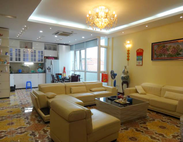 Beautiful fully furnished penthouse for rent in Tay Ho District, Hanoi.