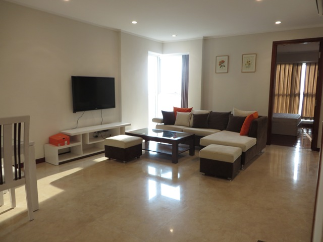 Bright 3 bedroom apartment with balcony for rent in L1 Ciputra, Hanoi.