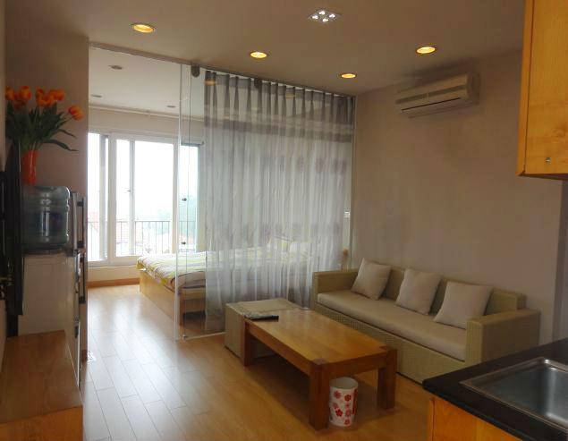 Bright and modern 01 bedroom serviced apartment for rent at Dang Thai Mai, Tay Ho District.