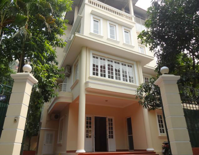 Four stories house with four bedrooms for lease in To Ngoc Van street