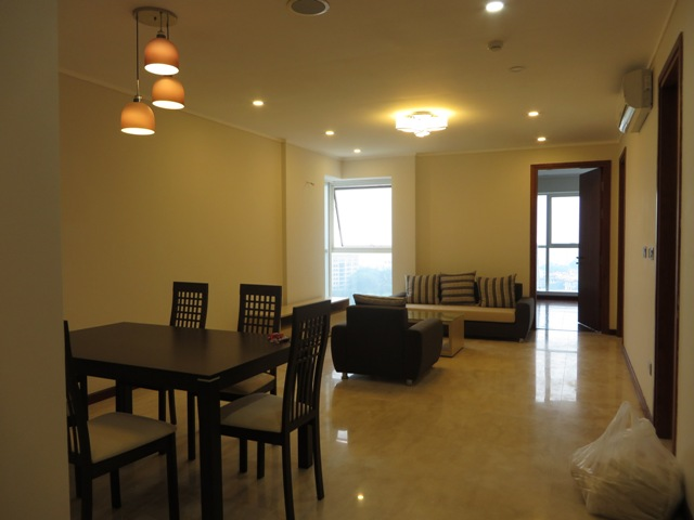 Furnished 3 bedroom apartment with nice view over Ciputra scene for lease in L1 Ciputra, Hanoi.