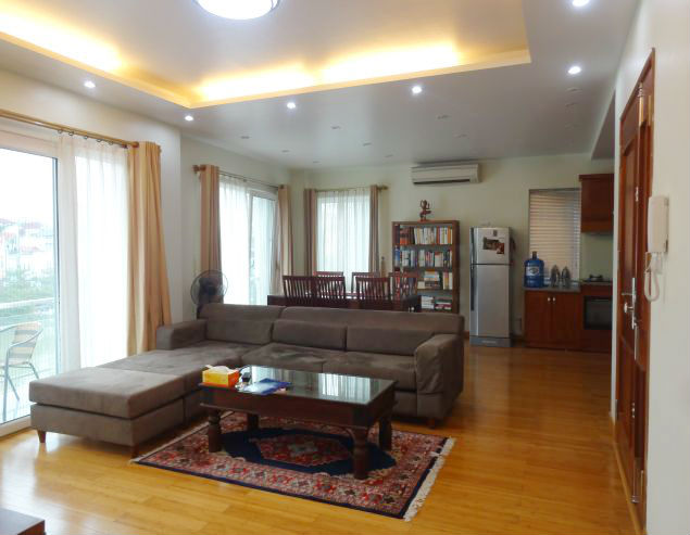 Modern 01 bedroom serviced apartment with balcony for rent at Yen Phu Village, Tay Ho District.
