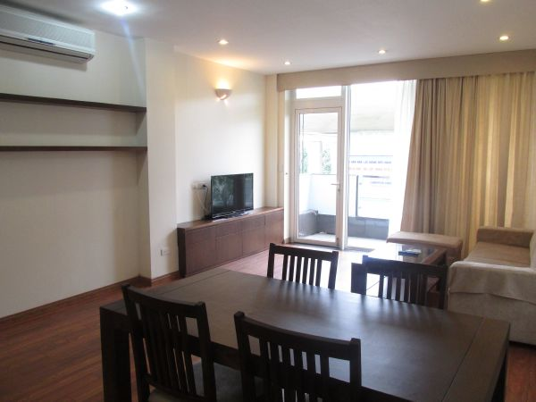 Nice 2 bedroom serviced apartment with full of natural light for rent in Tran Hung Dao street.