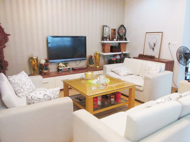 Nice apartment for rent in Peach Gadern, Phu Thuong Ward, Tay Ho district, Hanoi.