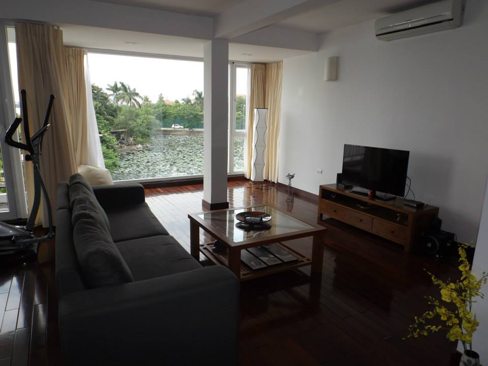 Stunning 2 bedroom serviced apartment for rent in Dang Thai Mai, lake view, modern design