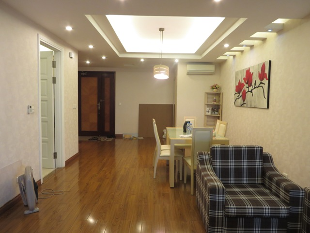 Stunning 3 bedroom apartment with balcony overlooking Ciputra view for rent in E4 Ciputra, Hanoi.