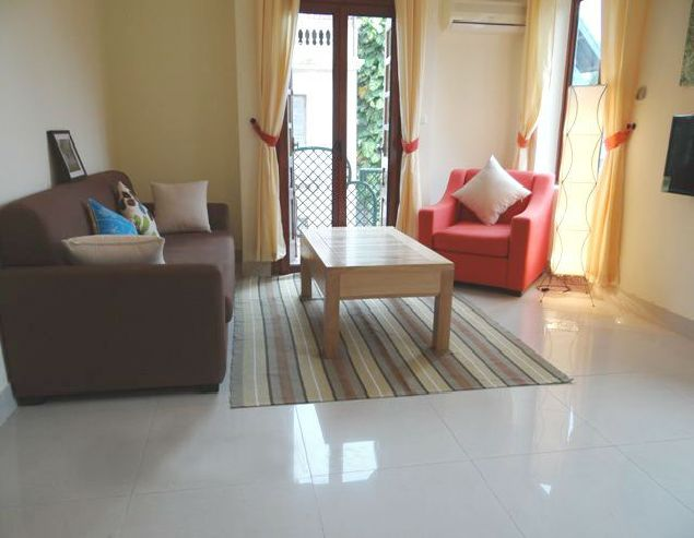 Vacant two bedroom service apartment in To Ngoc Van street Hanoi.