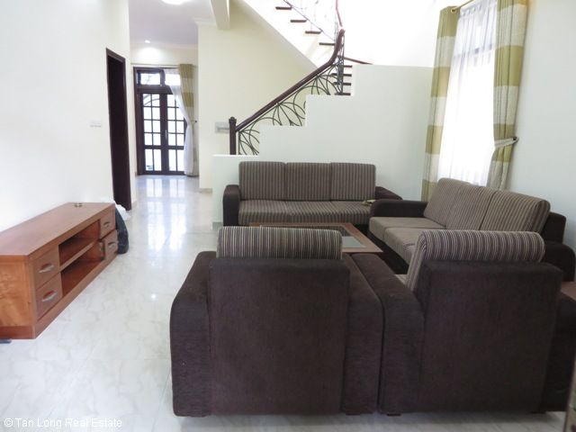 A stunning furnished villa with 4 bedrooms for rent in C5 Ciputra, Tay Ho district 1
