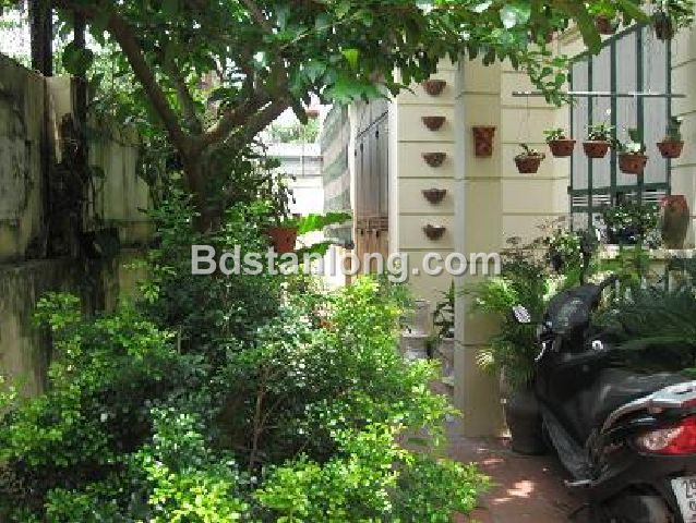A three-storey house in large alley in Nghi Tam street, Tay Ho district, Hanoi for rent