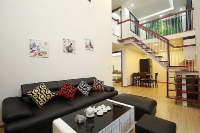 Beautiful 4-bedroom house for rent in 124 Au Co Str, Tay Ho Distr