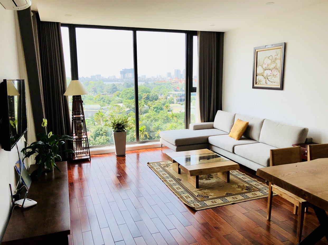 Beautiful serviced apartment for rent in Xom Chua, Dang Thai Mai street, Tay Ho district!
