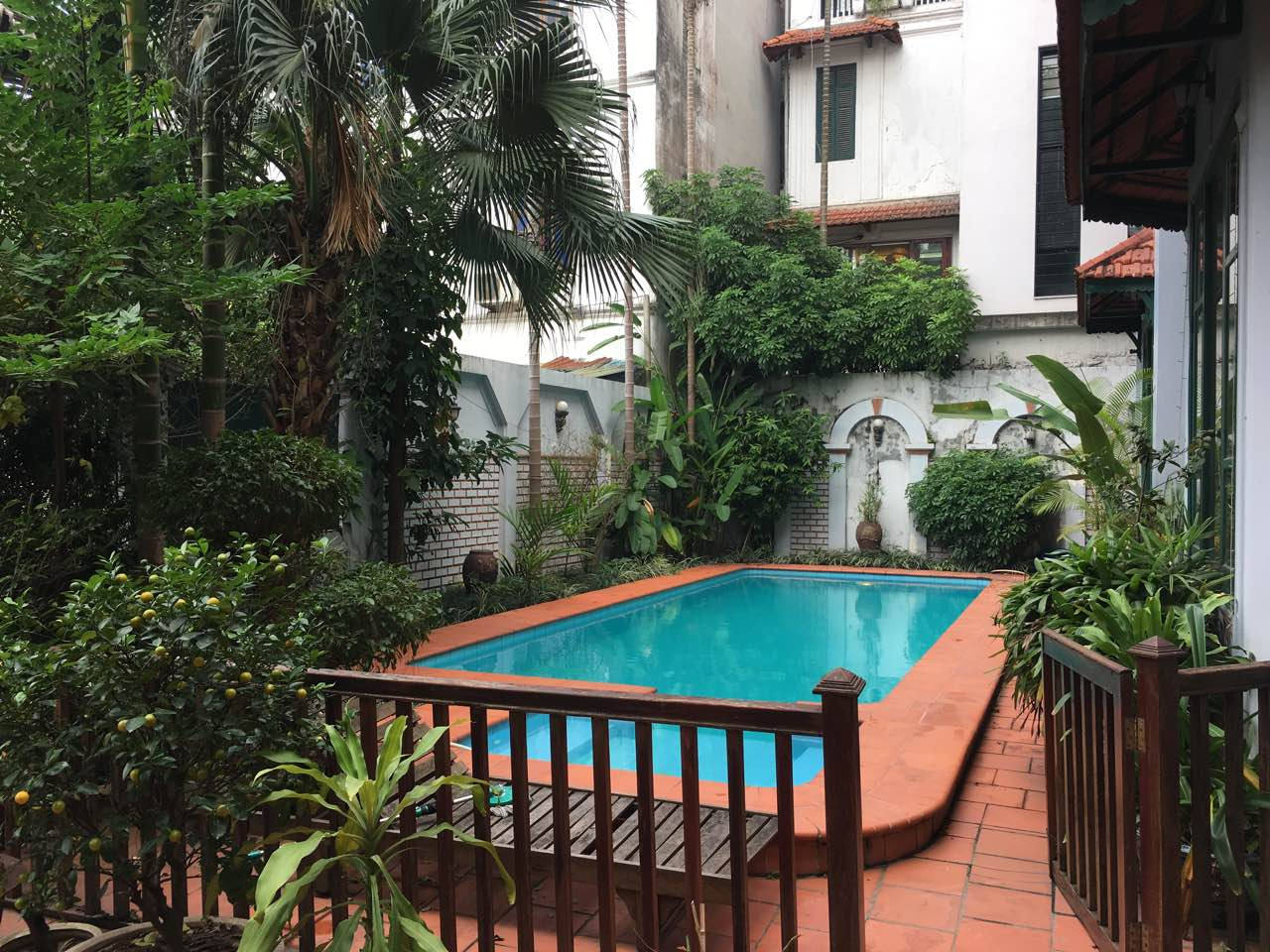 Beautiful villa with garden and swimming pool on To Ngoc Van street, Tay Ho district!
