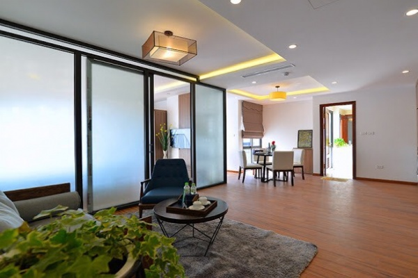Bright new apartment for rent in Road surface Quang Khanh street, Tay ho district