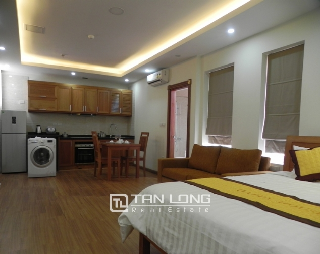 Bright studio serviced apartment in Pham Ngoc Thach, Dong Da for lease 6