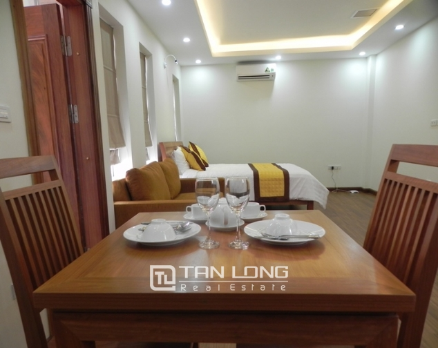 Bright studio serviced apartment in Pham Ngoc Thach, Dong Da for lease 7