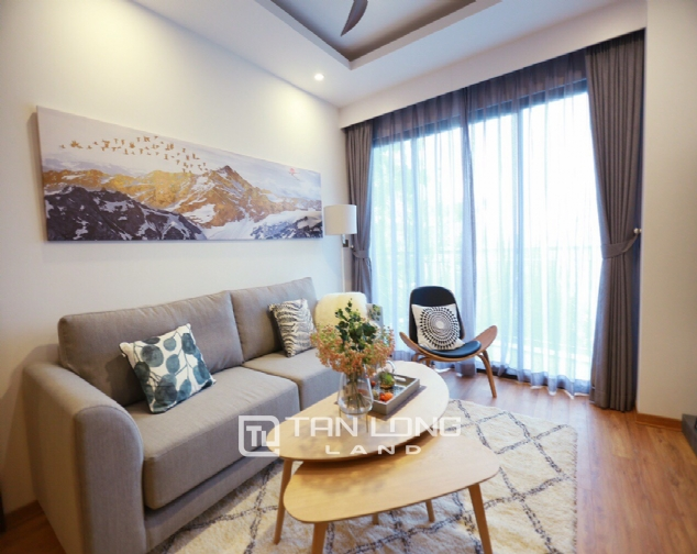 Brilliant 2 bedroom apartment for rent on Pham Huy Thong street, Ba Dinh 1