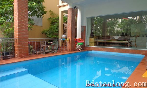 Charming house with swimming pool rental in Tay Ho Hanoi 3