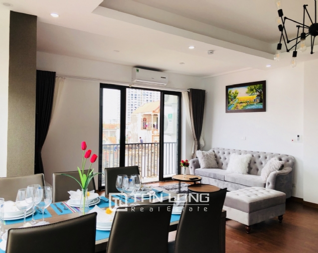 Charming serviced apartment for rent in Xuan Dieu street! 2