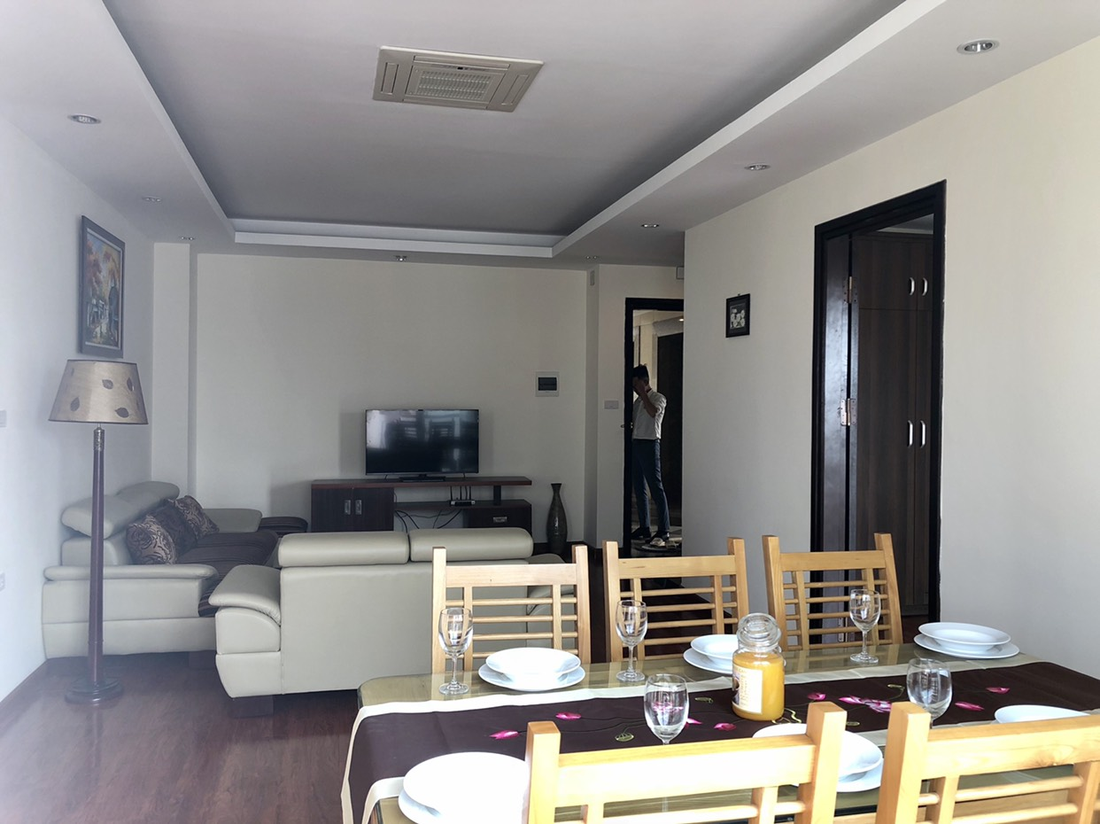 Cool apartment for rent in Au Co street, same side with Xuan Dieu street for rent!