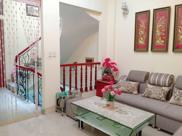 Cozy and fully furnished house for rent in Ngoc Thuy street near French school Long Bien district