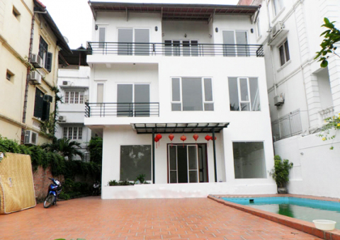 Fantastic 4 bedroom villa for lease with swimming pool and garden in To Ngoc Van, Tay Ho