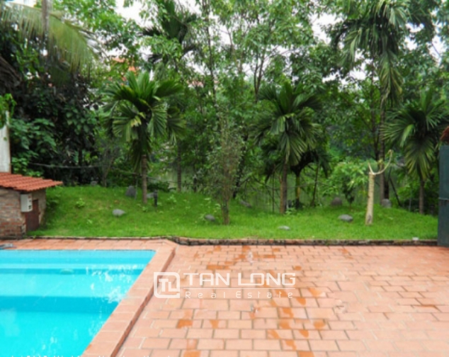 Fantastic 4 bedroom villa for lease with swimming pool and garden in To Ngoc Van, Tay Ho 2