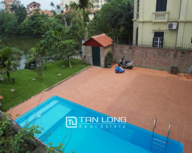 Fantastic 4 bedroom villa for lease with swimming pool and garden in To Ngoc Van, Tay Ho 1