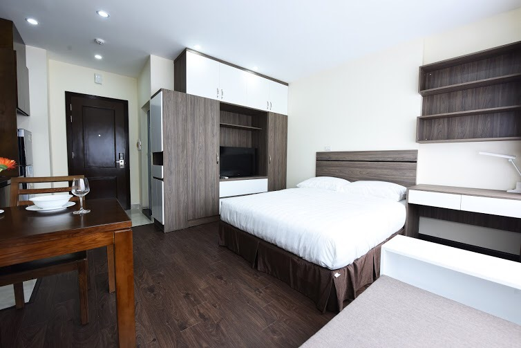For rent apartment studio service in Hoang Quoc Viet, Cau Giay district, Hanoi