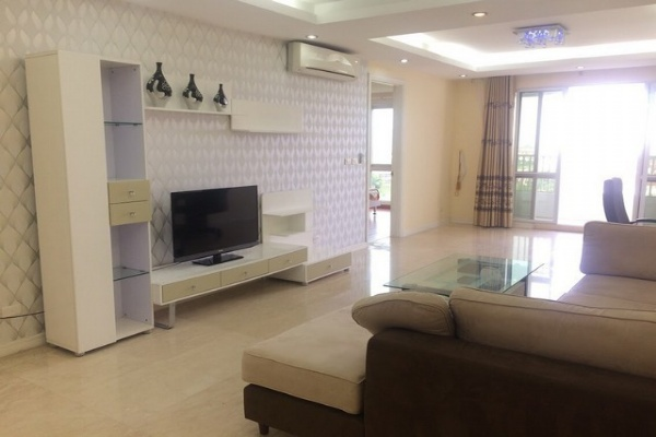 Furnished 3 bedroom apartment for rent in P1 tower Ciputra urban area Tay Ho district