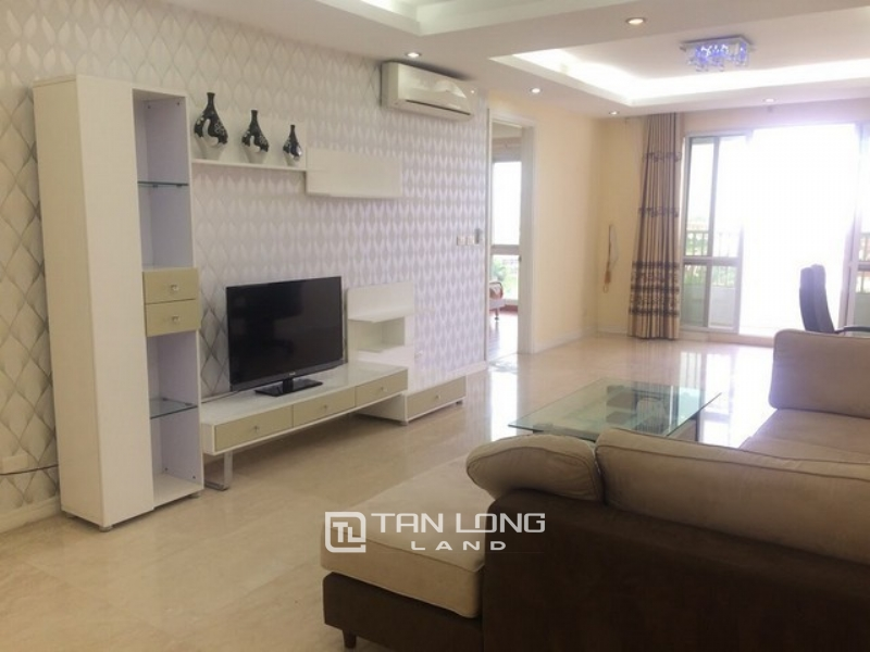 Furnished 3 bedroom apartment for rent in P1 tower Ciputra urban area Tay Ho district 1