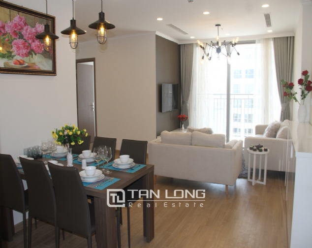 Furnished 3 bedroom apartment for rent in Vinhomes Gardenia, A1 buidling 2