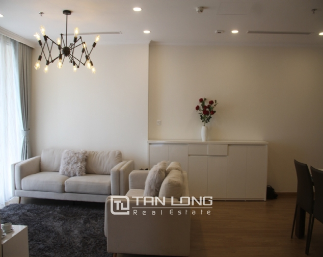 Furnished 3 bedroom apartment for rent in Vinhomes Gardenia, A1 buidling 4