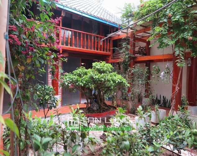 Garden house with 2 bedrooms for rent on Hoang Hoa Tham, Ba Dinh district 1
