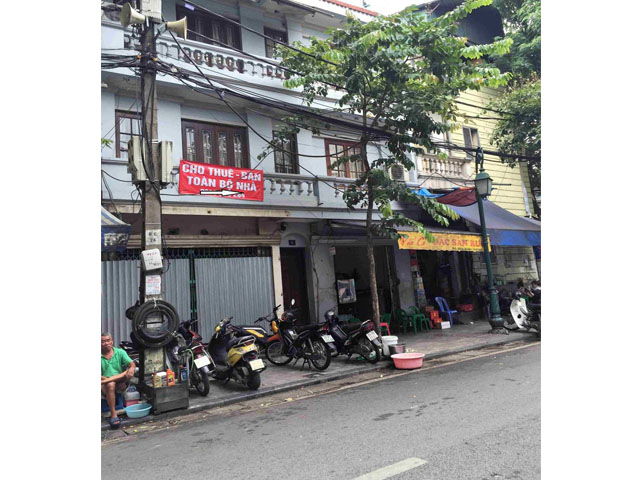 House to rent with 3 storey in O Quan Chuong, Hoan Kiem district