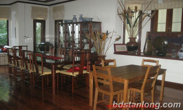 House with garage in To Ngoc Van, Tay Ho for rent 7
