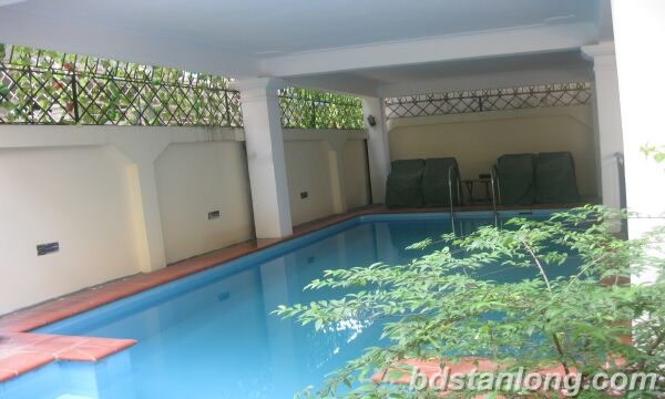 House with swimming pool in To Ngoc Van, Tay Ho for rent