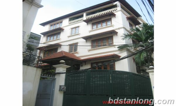 House with swimming pool in Tay Ho for rent 1