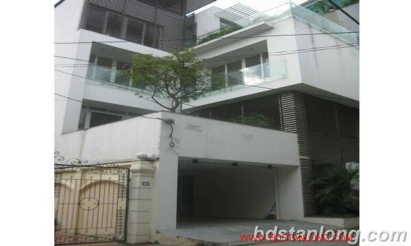 House with swimming pool in To Ngoc Van, Tay Ho for rent 1