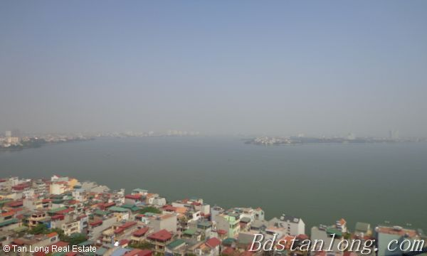 Lake view apartment for lease in Golden Westlake Hanoi 2