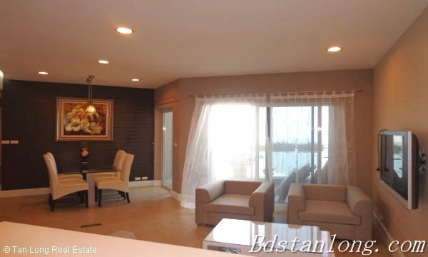 Lake view apartment for lease in Golden Westlake Hanoi 3