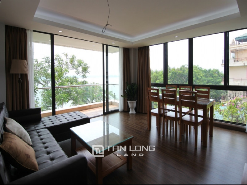 Lake view apartment for rent in road surface Nhat Chieu street, Tay ho district 18