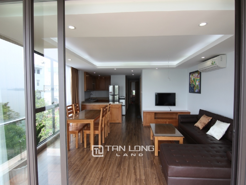 Lake view apartment for rent in road surface Nhat Chieu street, Tay ho district 20