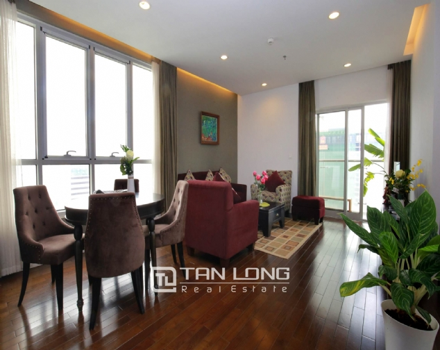 Lakeview 2 bedroom apartment for rent on 19F Lancaster Hanoi 2