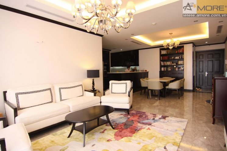 Luxurious apartment with large balcony in Platinum Residences, Nguyen Cong Hoan, Ba Dinh district for rent