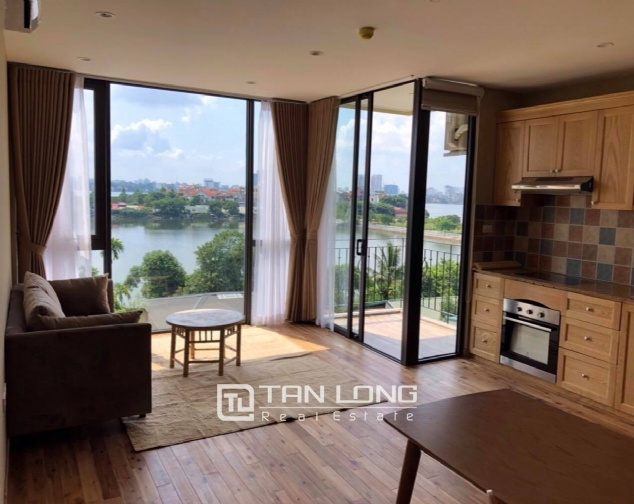 Modern and bright apartment for rent in Xom Chua, Dang Thai Mai street, Tay Ho distr 3