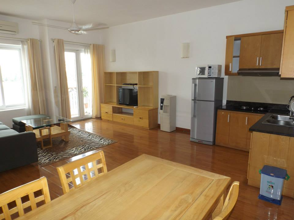Nicely furnished apartment to rent in Pham Huy Thong, Ba Dinh, 2 beds