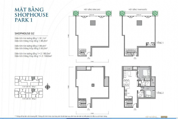 Park 01 Shophouse for rent in Vinhomes Times City