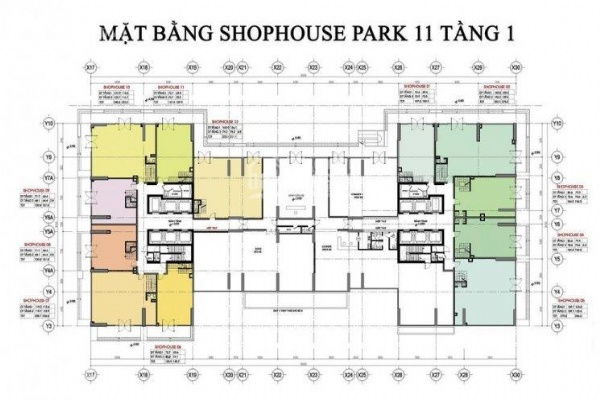 Park 11 shophouse for rent in Vinhomes Times City. Contact for price