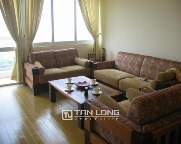 Reasonable and  nice 4 bedroom apartment with full furnished  for lease in E5 building, Ciputra, Ha Noi 1