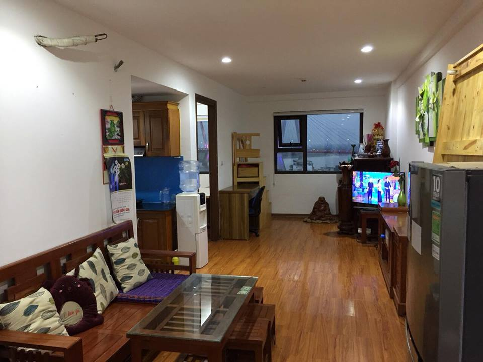 River view 2 bedroom furnished for rent in Packexim 2 building, An Duong Vuong street, Tay Ho district